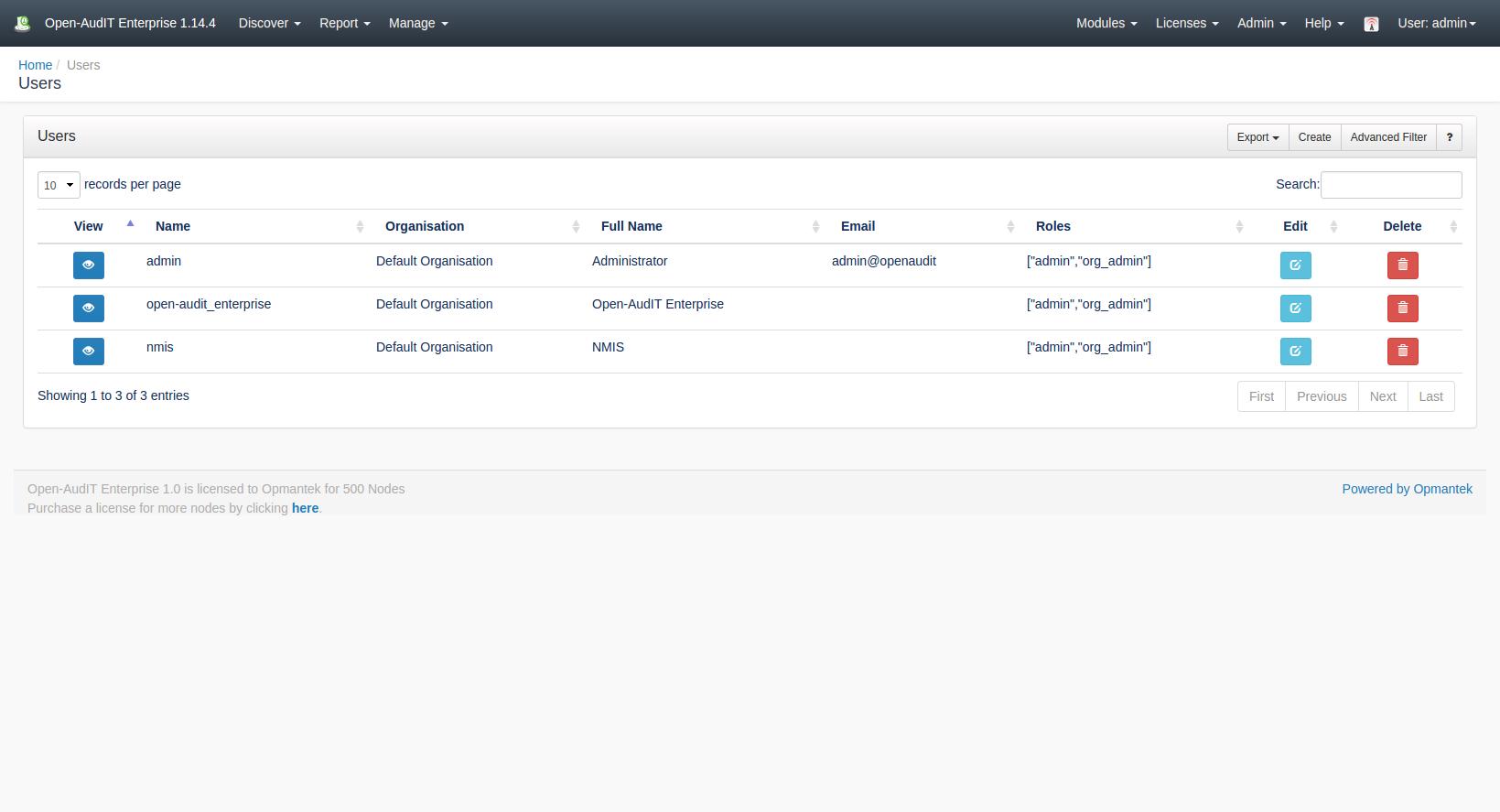 Users - Open-AudIT - Opmantek Community WIKI
