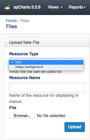 Uploading Custom Map Icons and Backgrounds using the web interface