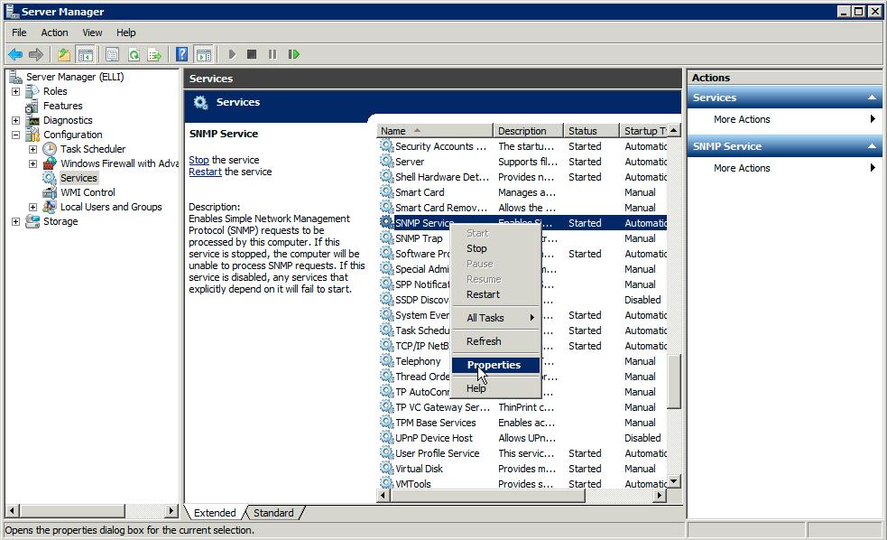 Enabling Snmp Management On Windows 2008 Server Nmis